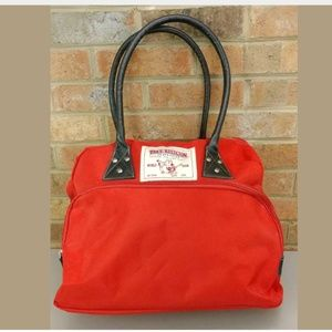 True Religion Red Shoulder Handbag